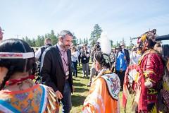 Premier/premier ministre Silver at the meeting with Indigenous leaders / à la Rencontre avec les dirigeants autochtones