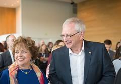 Premier/premier ministre Higgs and/et Marcia Higgs at the welcome reception/à la réception de bienvenue