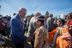 Premier/premier ministre Higgs at the meeting with Indigenous leaders / à la Rencontre avec les dirigeants autochtones