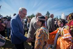 Premier/premier ministre Higgs at the meeting with Indigenous leaders / à la Rencontre avec les dirigeants autochtones
