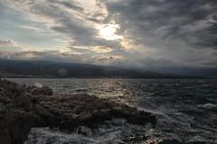 Waves break up on the rocks (malioli) Tags: sea seascape shore sky clouds sun sunshine landscape rocks stone water weather waves adriatic croatia canon europe hrvatska