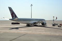 DOH - Qatar Airways (A7-ALK) (rivarix) Tags: doh hamadinternationalairport dohaqatar airline airways aircraft airplane jetplane jetengine fuselage tail wings verticalstabilizer qatarairways qr airbusa350900 a350 a359 oneworld ow