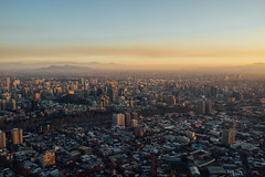 Santiago, Chile (M///S///H) Tags: ps rx1 buildings cerrosancristobal chile city cityscape clouds downtown dusk haze hazy mountains pointandshoot santiago sony sonyrx1 sunset twilight urban
