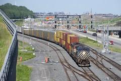 BCOL pair (Michael Berry Railfan) Tags: bcol4649 bcol4603 bcrail bcol train freighttrain ge generalelectric dash9 dash944cw dash840cmu turcotwest turcotouest cn401 montreal montrealsub quebec