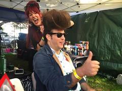 The Higher The Hair, The Closer To God (misterbigidea) Tags: concert city urban holiday fun festival happy thumbsup portrait style rocker lifestyle pompadour bighair hairdresser hairdo glamorous glamour beautysalon explore smile burgerboogaloo funny laugh