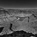 The End of a Hike and One Heck of a View! (Black & White, Canyonlands National Recreation Area)