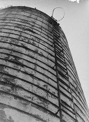 An Abandoned Silo (cmctaggs) Tags: olympus pen ft film camera 35 mm 35mm black white negative silver halide dark darkroom kentmere 100 street barn agriculture people grain grit rural bucolic homestead farm maryland christopher mctaggart christophermctaggart cmctaggs carleton college