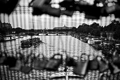Love Locks | Paris France (Paul Tocatlian | Happy Planet) Tags: paris france river seine boat happyplanet blackwhite blackwhitephotography city cityscape lovelocks