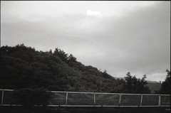 (✞bens▲n) Tags: contax g2 acros 100 carl zeiss 45mm f2 film blackandwhite japan yamanashi kiyosato landscape mountains trees sky