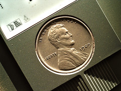 Martian Penny 2, variant (sjrankin) Tags: 11july2019 edited nasa msl curiosity galecrater closeup coin penny 1¢ target cameratest cameratarget calibration 2432mh0003720010901300c00dxxx