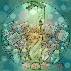 The Crowd (hinxlinx) Tags: dailyart illustration pendrawing creatureart animalart gustavelebon thecrowd pig mob crowd riot rioters violent justice freedom peace china hongkong 香港 中國 hinxlinx ericlynxlin elynx 軒 instaart artofinstagram