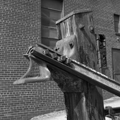 tsmf (pavel photography) Tags: railbuffer railroad end stop blackandwhitefilm bw film ilford iron oldcountry hasselblad hasselblad500cm 6x6film mediumformat monochrome