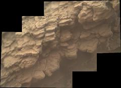 Decomposing Rocks (sjrankin) Tags: 11july2019 edited nasa mars msl curiosity galecrater panorama closeup blurry rocks layers decomposing