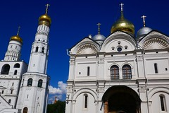 Cathedral Square (Nick_Leonard) Tags: travel europe russia moscow easterneurope 2019 kremlin church christianity tower silver gold dome
