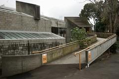 Brutalist ramped exit (Joe Lewit) Tags: variosonnart281635 brutalist architecture haroldholtswimmingcentre offformconcrete malvern melbourne 1967