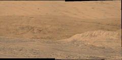 The Base of Mount Sharp (sjrankin) Tags: 11july2019 edited nasa mars msl curiosity galecrater panorama colorized bayerdecoded processed app output mountains mountsharp
