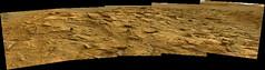 Rough Field of Rocks, variant (sjrankin) Tags: 11july2019 edited nasa mars msl curiosity galecrater panorama rocks sky haze
