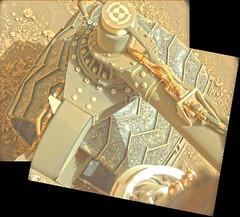 Damage from Seven Years 2, variant (sjrankin) Tags: 11july2019 edited nasa mars msl curiosity galecrater panorama wheel holes tread
