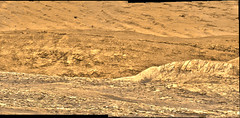 The Base of Mount Sharp, variant (sjrankin) Tags: 11july2019 edited nasa mars msl curiosity galecrater panorama colorized bayerdecoded processed app output mountains mountsharp