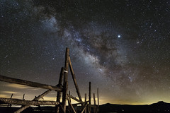 Corral with Milky Way (Mandira2007) Tags: nightsky milkyway nightphotography darksky lightpollution newmexico santafe ghostranch landscape landscapephotography astrophotography