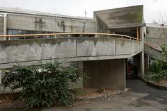 Brutalist streetfront (Joe Lewit) Tags: variosonnart281635 brutalist architecture malvern melbourne haroldholtswimmingcentre offformconcrete 1967
