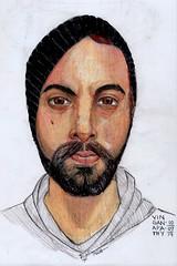 Vin Ganapathy (1ManekiNeko) Tags: coloredpencil portrait jkpp vin ganapathy oms oderlessmineralspirits