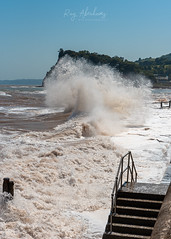 Moment of Impact (RTA Photography) Tags: teignmouth sea rough nature outdoors waves summer sky blue nikon d750 tamron water rtaphotography drama dramatic storm