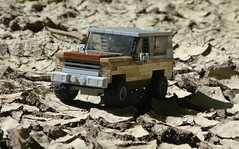 Dry Land Jeep (captain_j03) Tags: toy spielzeug 365toyproject lego minifigure minifig car auto jeep 6wide strangerthings chevrolet k5 75810