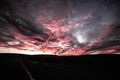 Devils Highway (NikNak Allen) Tags: dartmoor plymouth devon silhouette sky cloud clouds sunrise red black greys light shadows big large epic drama dramatic early morning moors