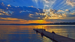 A Summer's Evening @ the Lake #47 (Bob's Digital Eye 2) Tags: 47 bobsdigitaleye2 sunsetsoverwater sun sunset flicker flickr clouds cloudscape landscape canon canonefs1855mmf3556isll lakescape lakesunset lake laquintaessenza july2019 boatdock reflections silhouettes