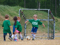 191/365 Kids Enjoy Soccer (OhWowMan) Tags: ohwowman nikon nikkor d3300 acdseepro9 my2019challenge 365project animageaday dailyphotography 365the2019edition 3652019 day191365 10jul19 kids children playtime soccer youth competition goal goalie outdoors sports park game