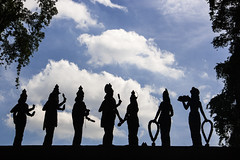 Gods - Batu Cave - Kuala Lumpur (Out Of The Map) Tags: asia asie southeastasia solotravel travel voyage viaja explore explora sculpture sky kualalumpur kuala lumpur malaysia outofthemap temple gods religion tradition scultpture batu cave kl canon happyplanet asiafavorites