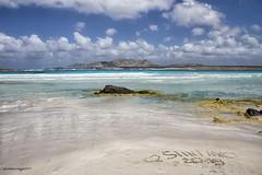 Spiaggia La Pelosa - Stintino (Gina.Di) Tags: stintino lapelosa sardegna italia mare tuttiicoloridelmaredisardegna mareblu cielo sky nuvole spiaggia beach isolapiana rocce azzurro asinara sardinia