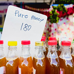 Close up of pure honey for sale thumbnail