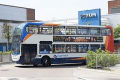 SM 19635 @ Wythenshawe Interchange (ianjpoole) Tags: stagecoach manchester alexander dennis enviro 400 mx58kjn 19635 working route 11 altrincham interchange stockport bus station
