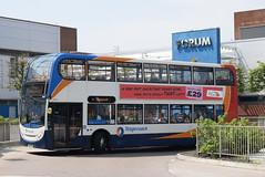 SM 19391 @ Wythenshawe Interchange (ianjpoole) Tags: stagecoach manchester alexander dennis enviro 400 mx58fse 19391 working route 11 altrincham interchange stockport bus station