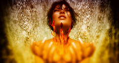 The Fire (Renascentia11) Tags: naked nude renni renascentia fire flame solo solitary portrait