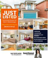Just Listed - Detached House for Sale in Mississauga (gazalbansal) Tags: realestate realestateagent realestateagentmississauga realtor realtorinmississauga toprealtor bestrealtor justlisted detachedhouseforsaleinmississauga house houseforsaleinmississauga mississauga gazalbansal ontario canada property
