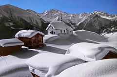 SWITZERLAND - Bettmeralp (Jacques Rollet (Little Available)) Tags: switzerland bettmeralp winter snow village chapelle chapel landscape