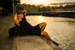 Singapour (Gaël Crutzen) Tags: gaelcrutzen singapour cool relax mode fashion man male model teen boy fitness backpacker onelifeonetravel muscle asia shooting gold