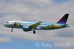 OO-SNE (bwi2muc) Tags: lhr airport airplane aircraft plane flying aviation spotting spotter airbus a320 brussels staralliance brusselsairline specialscheme specialcolors speciallivery oosne heathrowairport heathrow londonheathrow belgianicons
