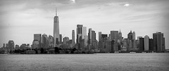 NYC Skyline III BW (Alexander Day) Tags: nyc ny new york nj jersey skyline one world trade center liberty state park ellis island monochrome blackandwhite alex alexander day