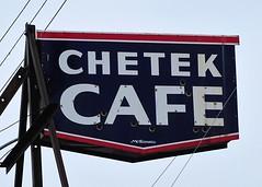 WI, Chetek-U.S. 53(Old) Chetek Cafe Ghost Neon Sign