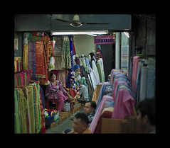 Don't be shy to choose (Antoine - Bkk) Tags: exploration atmosphere bangkok thailand market fabric candid