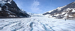 Athabasca Glacier. Alberta Canada. (womboyne7) Tags: athabascaglacier snow ice mountains glacier alberta jasper national park canada rockymountains panorama clouds vapour blue sky