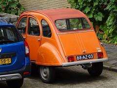 1974 Citroën 2CV4 (harry_nl) Tags: netherlands nederland 2019 rotterdam citroën 2cv4 88az03 sidecode3