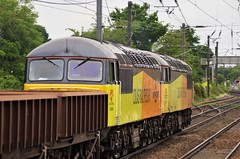 56113 & 56049 at Morpeth (stephen.lewins (1,000 000 UP !)) Tags: class56 56113 56049 grids ecml morpeth northumberland railways colas robinoftemplecombe