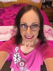June 2017 - new jeans (Girly Emily) Tags: crossdresser cd tv tvchix trans transvestite transsexual tgirl tgirls convincing feminine girly cute pretty sexy transgender boytogirl mtf maletofemale xdresser gurl glasses smile bedroom pink