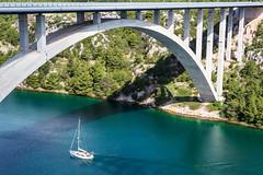 Bridge near Plitvice, Croatia (dwb838) Tags: bridge krk sailboat