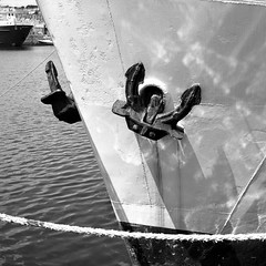 Penzance (RickC.) Tags: cornwall kernow penzance anchor boat sailing bw 6x6 120 agfa isolette fuji acros d76 german folder medium rollfilm bwfp